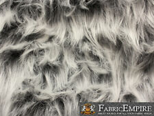 "Faux Fur Fabric Long Pile Monkey Shaggy GRAY FROST / 60"" Wide / Sold by the yard"