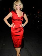 KAREN MILLEN WINTER RED DRESS SIZE 10 CHRISTMAS PARTY GIFT BARGAIN RRP £180