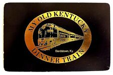 SWAP PLAYING CARD. OLD KENTUCKY DINNER TRAIN VINTAGE RAILROAD. GEMACO