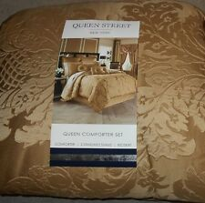 Queen Street New York Careleton Gold 4 Pc Queen Comforter Set NEW
