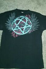 HIM Heartagram front/back print Unisex Small tshirt Ville Valo Worn Once EUC