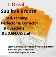 L'OREAL 8 x SUBLIME BRONZE Self Fake TAN PERFECTOR/CORRECTOR 4 STREAKS & BLOTCHS