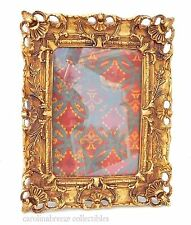Photo Frame Ornate Baroque Shells And Leafy Scrollwork Deep Gold Finish 5x7