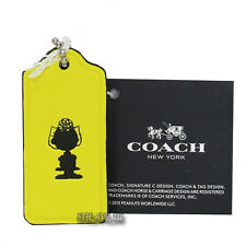 NWT Coach X Peanuts Sally Leather Key Fob Ring Hang Tag  63187 Limited Edition