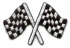 CHECKERED RACING FLAGS: EMBROIDERED IRON-ON PATCH **FREE SHIPPING** nascar indy