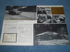 1973 Lamborghini Jarama 400 GT Vintage Road Test Info Article