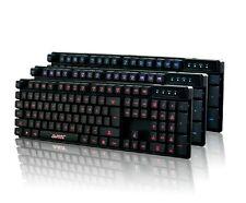 UK Ajazz Cyborg Soldier 3 LEDs Backlit Multimedia Ergonomic Usb Gaming Keyboard