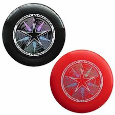 Discraft UltraStar 175g Ultimate Frisbee Sport Disc (2 Pack) BLACK/RED