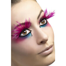 Faux cils longues plumes roses adulte Carnaval Maquillage deguisement LG