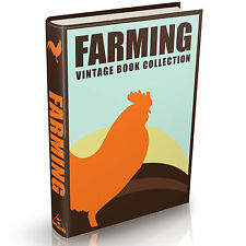 Farming Books - 99 Vintage Books on DVD -How to be a farmer dairy animals plants