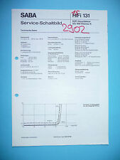 Service-Manual für Saba VS 100   , ORIGINAL!