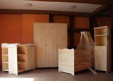 chambre de bébé Enfants Meuble COMPLET Matelas Linge lit 5 Farben MASSIF Gravure