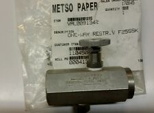 Metso Paper VAL0091342 Valve One-Way Restr V F25SSK NEW (LOC1192)