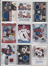 45 Card Avalanche Lot Varlamov Peter Forsberg Giguere Hishon Jersey Autographs
