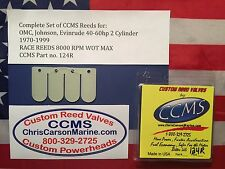 CCMS OMC,Johnson,Evinrude Racing Outboard Reeds 40-60hp 2 Cyl. 1970-1999 PN124R