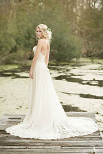 Lillian West ~ 6469 ~ Ivory Nude Boho Wedding Gown ~ size 12