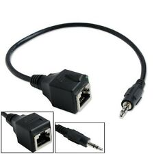 DC 3.5mm Male Jack Audio Cable To RJ45 Ethernet LAN Network Cable