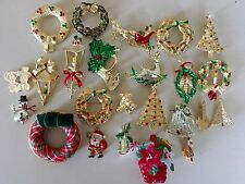 Christmas Jewelry Lot NOS Vintage To Now Gerry's Kitsch Pins Brooch