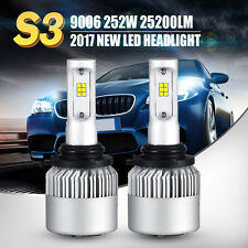 9006 Cree 252W LED Headlight Kit Bulbs 25200LM 6500K HB4 High Power Vs 120W 160W