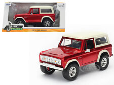 1973 FORD BRONCO RED 1/24 DIECAST MODEL CAR BY JADA 98280