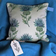THISTLE HARRIS TWEED Unique High Quality SCOTTISH GIFT CUSHION (25cm) BLUE
