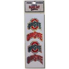 Ohio State Buckeyes 4 Count Prism Sickers - OSU NCAA Decals Prismatic Bling Pack