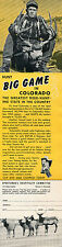 1963 Print Ad of Sportsman's Hospitality Committee Hunt Big Game In Colorado