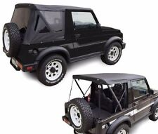 1986-1994 Suzuki Samurai Rampage Soft Top and Zip Out Rear Tinted Windows Black