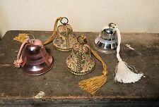 Vintage REUGE Victorian Tapestry Christmas Bells Ornament Music West Germany Lot
