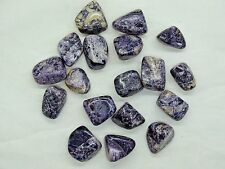 BULK 1/2 LB. MED/LG. SIZE TUMBLED POLISHED CHAROITE -17-20  PCS.- BEST PRICE