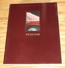 Original 1989 Mercedes-Benz 300 Class Deluxe Sales Brochure 89 E CE TE