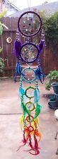 NEW HNDMADE NATIVE AMERICAN DESIGN BEADED DREAMCATCHER WITH CHAKRA FEATHERS