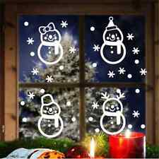 DIY Fun White Snowflake Merry Christmas Snowman wall sticker Decals Window decor