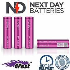 4 x GENUINE EFEST 3000 MAH 35 AMP BATTERY LI-MN PURPLE 18650 IMR HIGH DRAIN VAPE