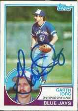 Garth Iorg authentic signed autographed trading card COA