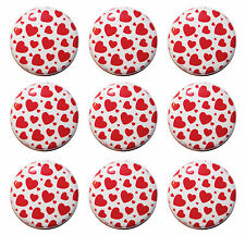 "9 x MINI HEARTS Fridge Magnets (1""/25mm) - Made in UK - GIFT & KITCHEN"