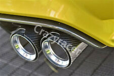 Glossy Carbon Fiber Exhaust Tips Muffler Pipe for BMW E60 F10 M5 (2.5*3.5 inch)