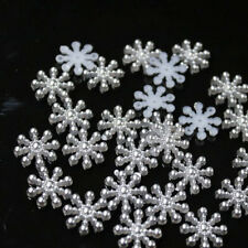 Bulk 50pcs Snowflake Flatback Embellishments Christmas Craft Diy Card Making