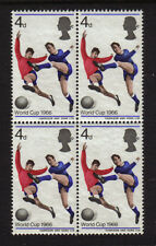 GB 1966 MNH MINT EVER HINGED SG.693 4d BLOCK OF 4 WORLD CUP FOOTBALL SOCCER