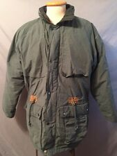 VTG LONDON FOG DOWN FILLED REMOVABLE LINING LONG GREEN SKI PARKA MENS L NICE!