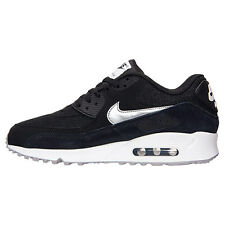 Men Nike Air Max 90 Essential Running Shoe Size 12 Black White Silver 537384 047
