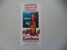 advertising Pubblicità 1980 AMARO KAMBUSA L'AMARICANTE