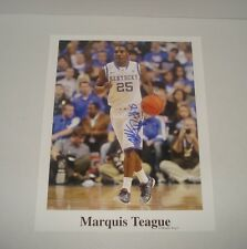 MARQUIS TEAGUE HAND SIGNED 10x13 PHOTO AUTOGRAPHED PICTURE AUTO UK KY WILDCATS *