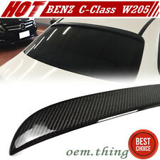 """SHIP OUT TODAY Carbon Mercedes BENZ W205 4DR C-Class OE Roof Spoiler C180 14-15"