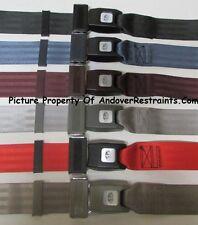 """2 Point Lap Seat Belt Select A Color Seatbelt Ford, Chevy, Mopar,  GM,  74"""""""