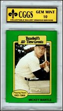 1987 Baseball's All Time Greats MICKEY MANTLE Graded GEM MINT 10 Free SHIP!