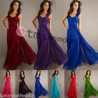 New Formal Long Evening Wedding Ball Gown Party Prom Bridesmaid Dress UK 8-16