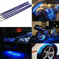 5x30cm 15 Blue LED Waterproof Flexible Car Motor Grill Strip Light Lamp Bulb 12V