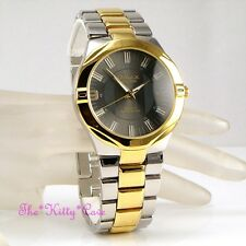 Omax Waterproof Designer Rhodium & Gold PL 2Tone Sporty Seiko Movt Watch HBK815