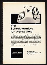 3w896/ Alte Reklame - von 1961 - Schreibmaschinen - ADLERWERKE - Frankfurt/Main